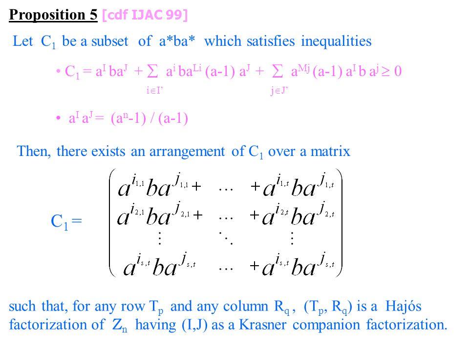 C1 = Proposition 5 [cdf IJAC 99]